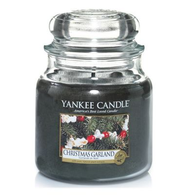 Classic Yankee Medium Jar Candle - Christmas Garland