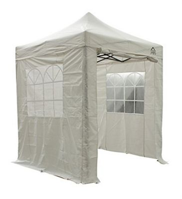 All Seasons Gazebos, Heavy Duty, Fully Waterproof, 2m x 2m Superior Pop up Gazebo Package in White