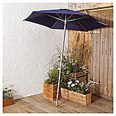 Navy Parasol In Mesh Bag, 1.8m