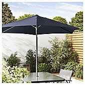 Tesco Tilting Garden Parasol in Mesh Bag, Navy, 1.8m