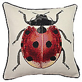 McAlister Printed Ladybird Cushion - Woven Jacquard
