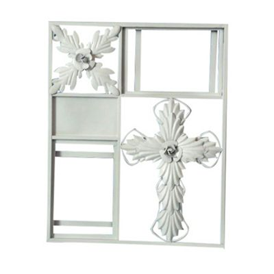 Antique White Iron Picture or Photo Frame Width: 35.5cm
