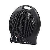 Lowry 2KW Black Upright Fan Heater - LUFH2005B