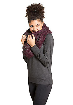 Zakti Knit Happens Snood Warm and Cosy with Melange Effect and Extra Wide - Purple
