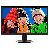 Philips 243V5LHAB/00 23.6 inch Full HD LED Monitor with HDMI DVI VGA 5ms
