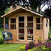 Mercia Premium Wooden Summerhouse with Veranda, 8x8ft