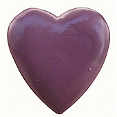 Painted Wooden Heart Plum