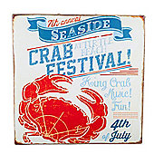 San Fran' Nautical 'Crab Festival' Canvas Print Wall Art for the Home
