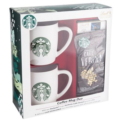 Starbucks 2 Mug Gift Set With Lindt