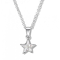 Jo For Girls Sparkly Silver Star Pendant