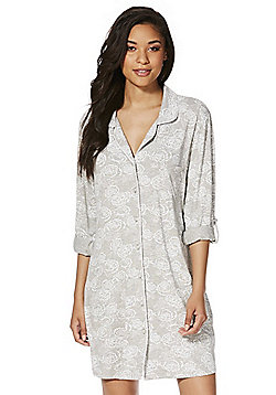 F&F Floral Jersey Nightshirt - Grey