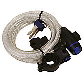 Oxford Motorcycle Bicycle MotorBike Scooter Cycle Cable Lock 1.8m X 12mm -Clear