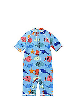 Dudeskin Sea Creature Print UPF50+ Surfsuit - Blue Multi