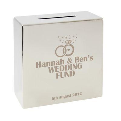 Personalised Engagement Wedding Fund Money Box