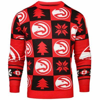 NBA Basketball Atlanta Hawks Patches Crew Neck Sweater - S