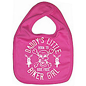 Dirty Fingers Daddy's little Biker Girl Baby Bib Fuchsia
