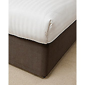 "Belledorm Divan Bed Base Valance Sheet Wrap 15"" Luxury Faux Suede - Chocolate"
