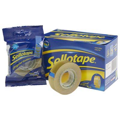 Sellotape Golden Tape 18mm x25 Metres 8 Pack