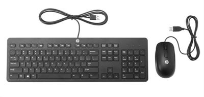 HP T6T83AA USB QWERTY Black Slim Keyboard and Mouse