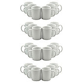 White Straight Sided Tea / Coffee Mugs - 285ml (10oz) - Box of 24