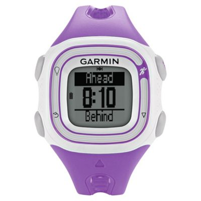 Garmin Forerunner 10 GPS Running Watch, Violet and White