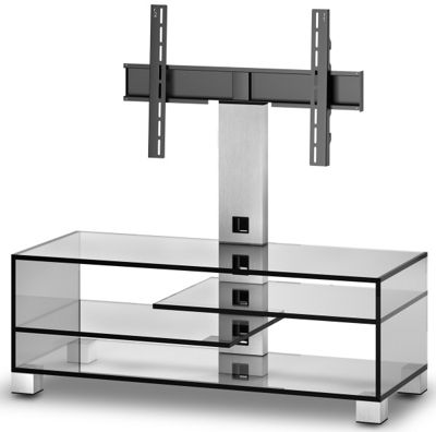 Sonorous Luxury Clear Glass Cantilever Stand - up to 55 inch TV s