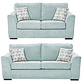 Boston 2.5-Seater + 3 Seater Sofa Set, Duck Egg