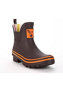 Evercreatures Ladies Rubber Wellies With Terracotta Edging in Brown Size 4 (UK)