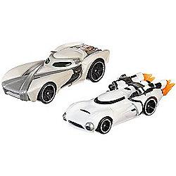 Hot Wheels Star Wars Cars - Rey & Flametrooper