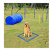 PawHut Pet Agility Training Equipment Dog Play Run Jump Training Set Adjustable (Poles + Hurdle + Tunnel + Lunch Box)