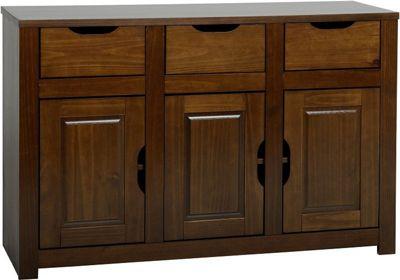 Home Essence Eclipse 3 Door Sideboard - Walnut
