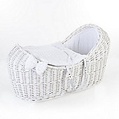 Ginnini White Pod Moses Basket (Bubble White)