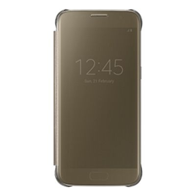 Samsung View Cover Carrying Case for Smartphone - Clear Gold
