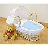 Cuddles Collection My Little Star Palm Moses Basket (Blue)