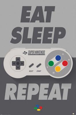 Nintendo SNES Controller Poster 61x91.5cm