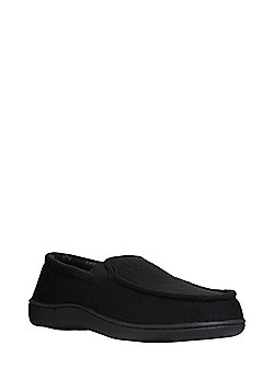 F&F Apron Front Closed Back Slippers - Black