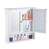 Christow 2 Door Mirrored Bathroom Cabinet - White