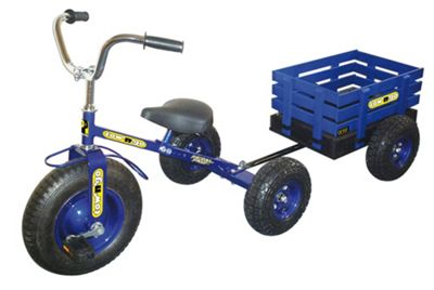 Concept Tow 'n' Go Kids Trike with Wooden Trailer Blue