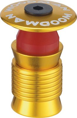 Woodman Capsule PH 1.1/8inch Reuseable Ahead Plug: Aqua Gold. Alloy Top Cap