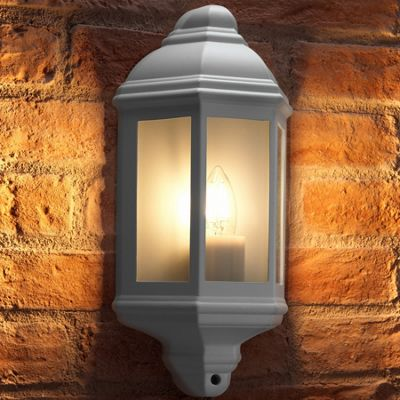 Auraglow Traditional Outdoor Wall Light - Soulbury - White