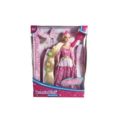 Bonnie Pink Blond Ultra Hair Princess Doll - Pink Dress
