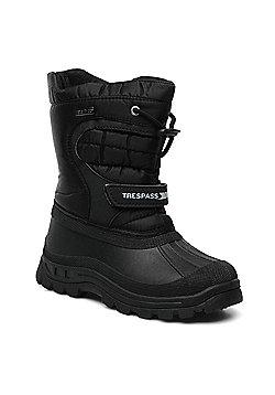 Trespass Kids Dodo Winter Snow Boots - Black