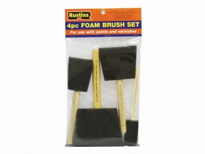 Rustins Foam Brushes X4 (1-2-3-4In)