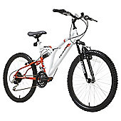 Terrain Dual Suspension 24 inch Wheel White Unisex Mountain Bike
