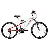 Terrain Dual Suspension 24 inch Wheel White Unisex Mountain Bike