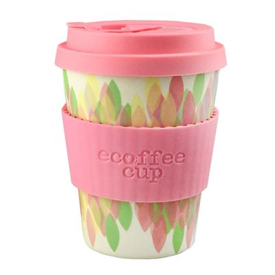 Ecoffee Cup Sakura Pink with Light Pink Silicone 12oz