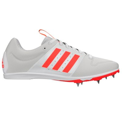adidas Allroundstar Kids Running Spike Trainer Shoe White/Red - UK 2.5