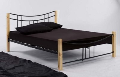 Home Zone Oxford Bed Frame in Black - Double