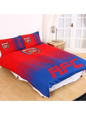 Arsenal FC Fade Double Duvet Cover and Pillowcase Set