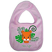 Dirty Fingers Easy Tiger Baby Cute Bib Pink